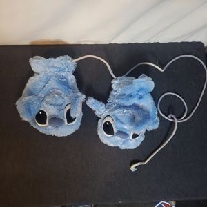 Stitch disney mittens with string
